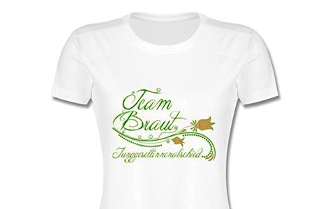 Jga Team Braut T Shirt Fuer Damenweb Junggesellenabschied