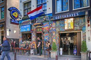 Coffeshop Rundgang beim JGA Amsterdam