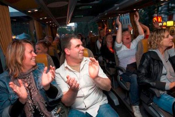 Comedybus beim Junggesellenabschied Dresden