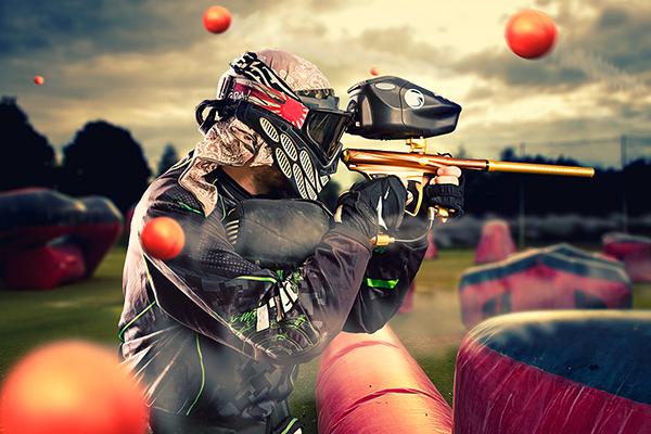 Junggesellenabschied für Männer - Paintball spielen