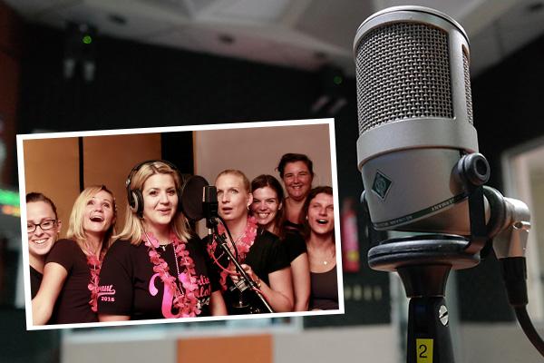 Song aufnhemen im Tonstudio beim JGA Dresden