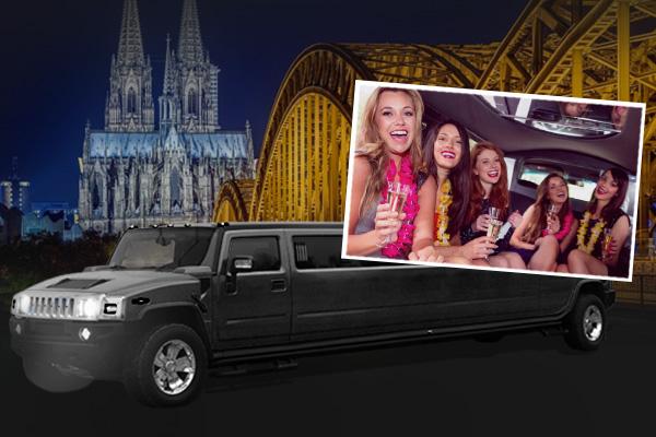 HUMMER Limousine in Köln beim Junggesellenabschied und JGA mieten