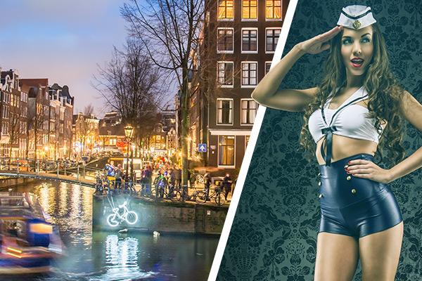 Boot & Strip - Partyboot beim JGA Amsterdam - Grachtenfahrt inkl. Bier und Strip Show