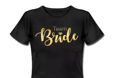 Team Bride Shirt beim Junggesellinnenabschied und JGA für Frauen