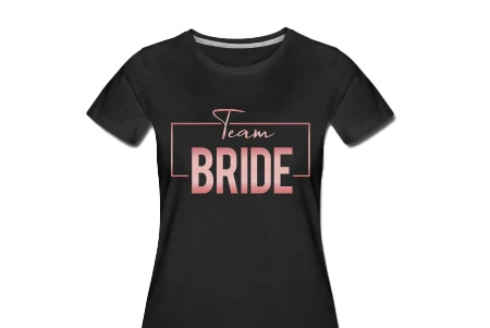 Cooles Team Bride Shirt rosegold