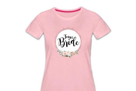 Team Bride Shirts JGA rosa