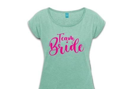 Team Bride Shirts pink