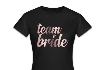 Team Bride Shirt JGA - rosegold