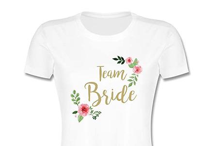 Team Bride Shirt - Blumenkranz -JGA Shirts Frauen