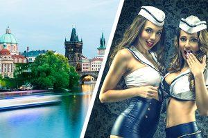 River Cruise inkl. Bier und Duoshow beim Junggesellenabschied Prag