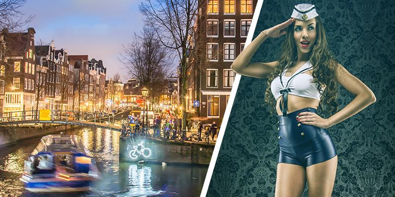 Partyboot Amsterdam | Grachtenfahrt inkl. Getränke-Flat und Strip Show